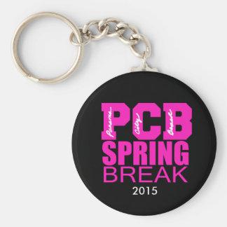 Panama City Beach Spring Break Button Keychain Basic Round Button Keychain