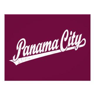 Panama City script logo in white distressed 21.5 Cm X 28 Cm Flyer