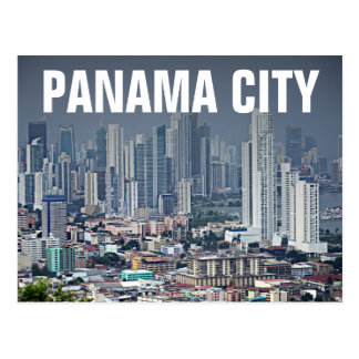 Panama City Skyline Postcard