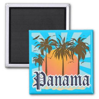 Panama City Souvenir Square Magnet