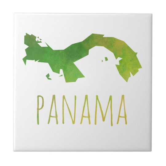 Panama Map Small Square Tile