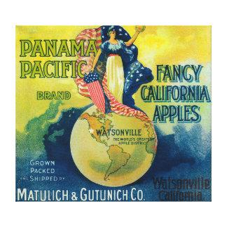 Panama Pacific Apple Crate Label Canvas Print