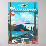 Panama River vacation print