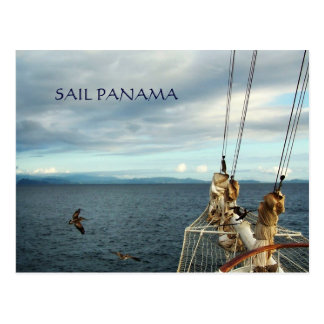 Panama Sailing Souvenir Travel Postcard