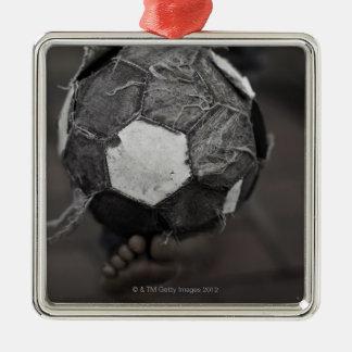 Panamanian street soccer christmas ornament