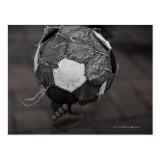 Panamanian street soccer postcard
