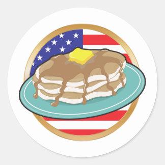 Pancake American Flag Stickers