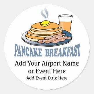 Pancake Bacon Juice Fundraiser Round Sticker