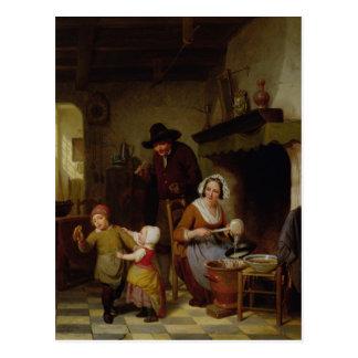 Pancake Day, 1845 Postcard