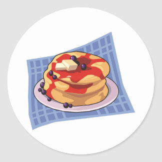 Pancake Day / Week Month Classic Round Sticker