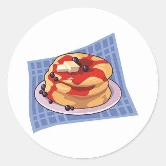 Pancake Day Week Month Round Stickers
