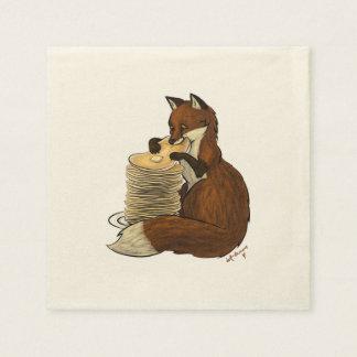 Pancake Fox Napkin Disposable Serviette