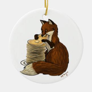 Pancake Fox Ornament