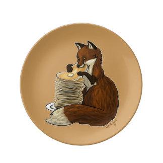 Pancake Fox Plate