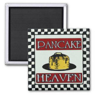 Pancake Heaven Distressed Sign Vintage Fridge Magnet