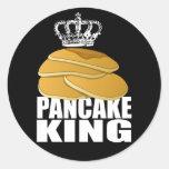 Pancake King Round Sticker