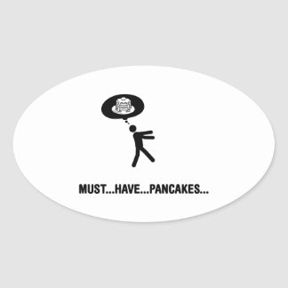 Pancake Lover Oval Stickers
