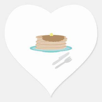 Pancake Plate Heart Stickers