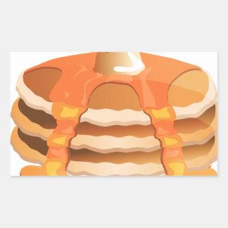 Pancake Stack Rectangular Stickers