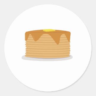 Pancake Stack Round Stickers