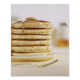 Pancakes and Melting Maple Syrup Poster