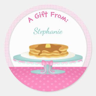 Pancakes and Pajamas Round Sticker