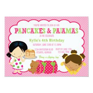 Pancakes and Pajamas Sleepover Party 13 Cm X 18 Cm Invitation Card