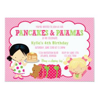 Pancakes and Pajamas Sleepover Party Card
