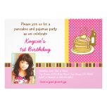 Pancakes and Pyjamas Birthday Invitation Photo