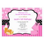 Pancakes and Pyjamas Birthday invitations