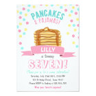 Pancakes and Pyjamas Birthday Party Invitation