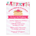 Pancakes and Pyjamas Girl Birthday Invitation