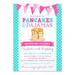 Pancakes and Pyjamas Sleepover Pink Teal Birthday 13 Cm X 18 Cm Invitation Card