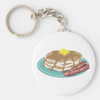 Pancakes Bacon Key Ring