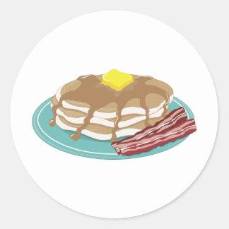 Pancakes Bacon Round Sticker