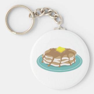 Pancakes Basic Round Button Key Ring