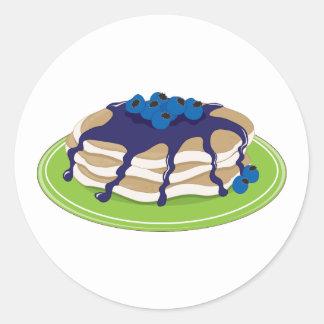 Pancakes Blueberry Round Sticker