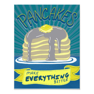 Pancakes Brunch or Breakfast Invitation Card