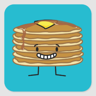 Pancakes Butter and Syrup Pancake Stack Square Sticker