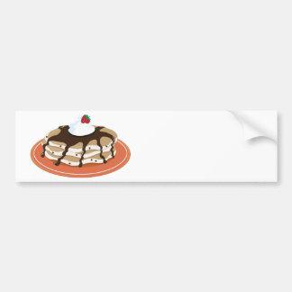 Pancakes Chocolate Bumper Sticker