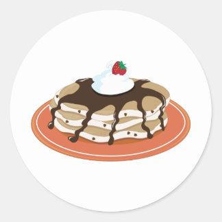 Pancakes Chocolate Stickers