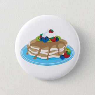 Pancakes Fruit 6 Cm Round Badge