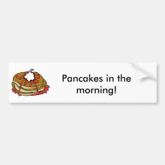 Pancakes jam and cream bumper sticker