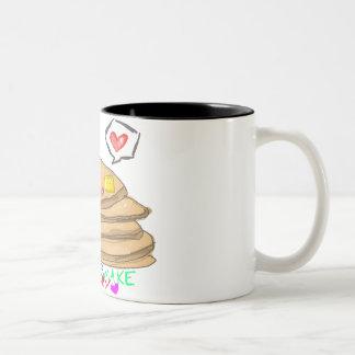 pancakes make me happy mug