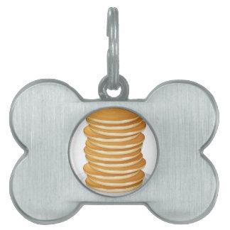 pancakes pet ID tag