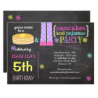Pancakes & Pyjamas Party Invitation