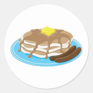 Pancakes Sausage Round Sticker