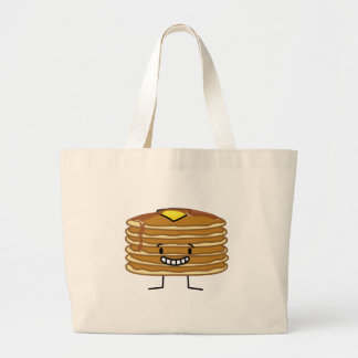 Pancakes stack butter syrup fluffy breakfast large tote bag