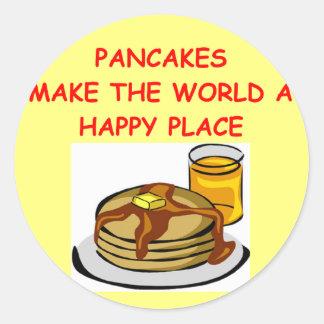 pancakes round sticker