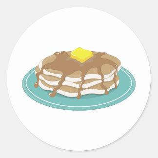 Pancakes Round Stickers